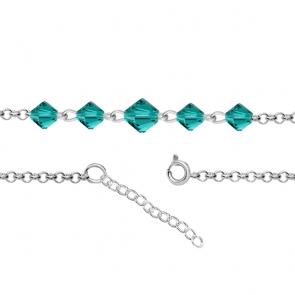 Bratara pentru Glezna - Cristale Swarovski Xilion Blue Zircon