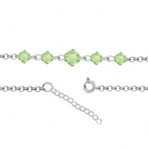 Bratara  pentru Glezna - Cristale Swarovski Xilion Peridot