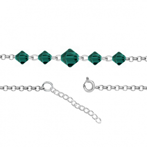 Bratara pentru Glezna - Cristale Swarovski Xilion Emerald