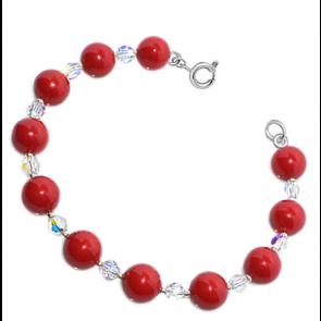 Bratara Red - Perle & Cristale Swarovski