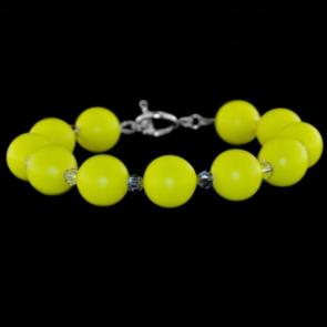 Bratara Yellow - Cristale & Perle Swarovski