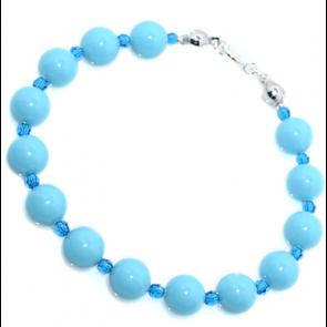 Bratara Blue - Perle & Cristale Swarovski