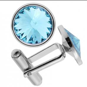 Butoni Cristale Swarovski Aquamarine