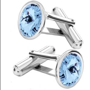 Butoni Aquamarine - Cristale Swarovski Rivoli