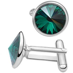 Butoni Cristale Swarovski Verde Emerald