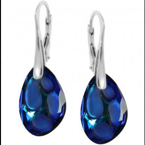 Cercei Radiolarian Bermuda Blue - Cristale Swarovski Designer Edition Céline Cousteau