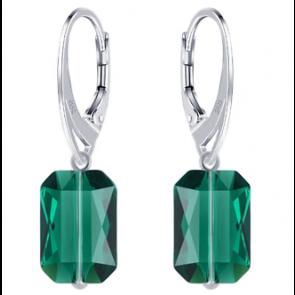 Cercei Emerald Cut - Cristale Swarovski