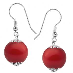 Cercei Rosso - Perle Swarovski
