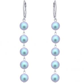 Cercei Iridescent Blue - Perle Swarovski