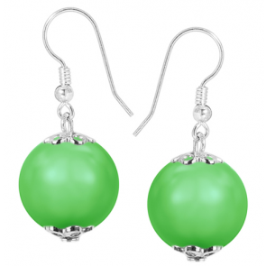 Cercei Neon Green - Perle Swarovski