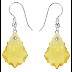 Cercei Light Topaz Baroque - Cristale Swarovski