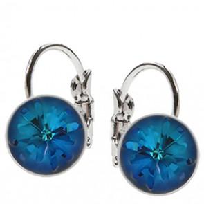 Cercei Sea Urchin Bermuda Blue - Cristale Swarovski Designer Edition Céline Cousteau