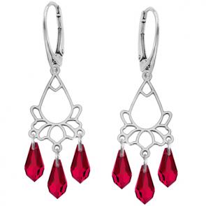 Cercei Scarlet Chandelier - Cristale Swarovski