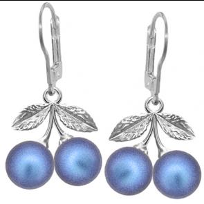 Cercei Cirese Iridescent Dark Blue - Perle Swarovski