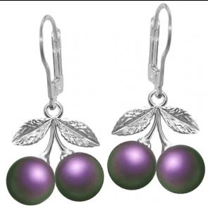 Cercei Cirese Iridescent Purple - Perle Swarovski
