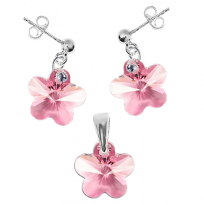 Set Floricele Light Rose - Cristale Swarovski