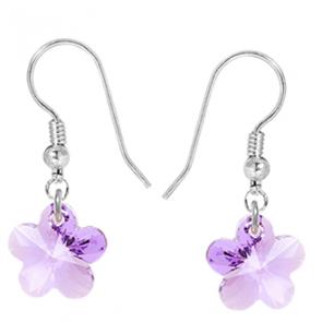 Cercei Violeta - Floricele Cristale Swarovski