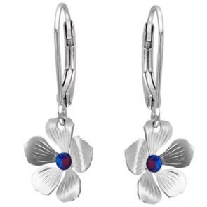 Cercei Floricele - Cristale Swarovski Meridian Blue