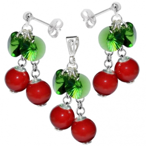 Set Cherry - Perle & Cristale Swarovski