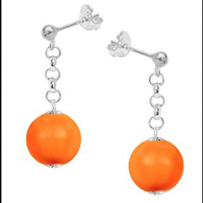 Cercei Orange - Perle Swarovski