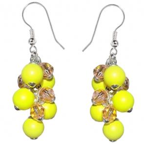 Cercei Yellow - Perle & Cristale Swarovski