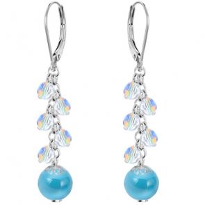 Cercei Blue - Perle & Cristale Swarovski