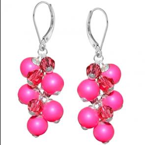 Cercei Pink - Perle & Cristale Swarovski