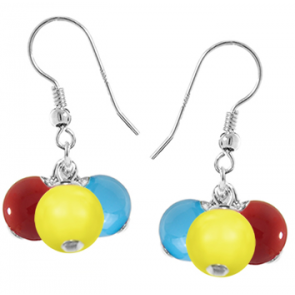Cercei Tricolor - Perle Swarovski
