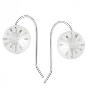 Cercei Sea Urchin Crystal Clear - Cristale Swarovski Designer Edition Céline Cousteau