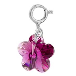 Charm Fucsia - Floare Cristal Swarovski