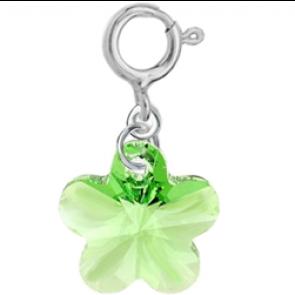 Charm Peridot - Floare Cristal Swarovski