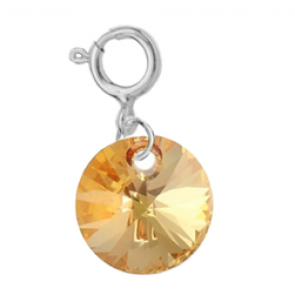Charm Cristal Swarovski - Metallic Sunshine