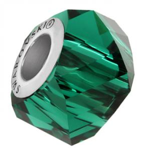 Charm Swarovski® Helix Emerald