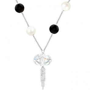 Colier Yin Yang - Cristal & Perle Swarovski