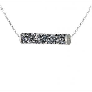 Colier Rocks Tube Silver - Cristale Swarovski