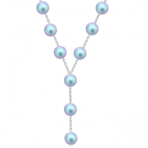 Colier Light Blue -  Perle Swarovski