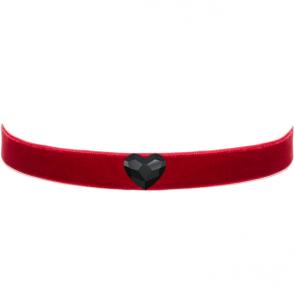 Colier Red Choker - Cristal Swarovski Inimioara
