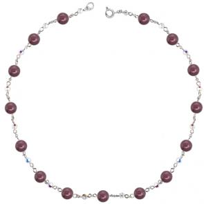 Colier Burgundi Basic - Cristale & Perle Swarovski