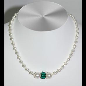 Colier Emerald - Perle & Cristal Swarovski