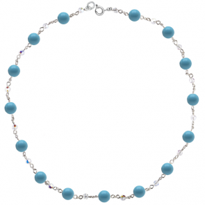Colier Blue Basic - Cristale & Perle Swarovski