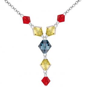 Colier Tricolor - Cristale Swarovski