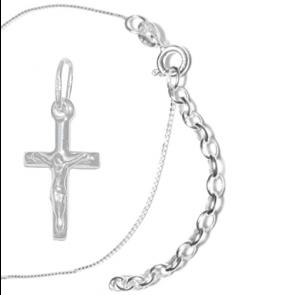 Cruciulita Argint 925 & Lantisor