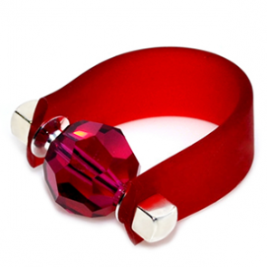 Inel Missi Concept - Ruby - Cristal Swarovski