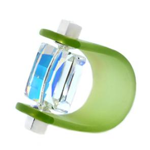 Inel Missi Concept - Green - Cristal Swarovski
