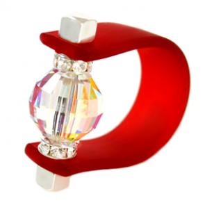 Inel Missi Concept - Siam - Cristal Swarovski