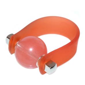 Inel Missi Concept -  Orange Cuart Roze