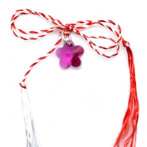 martisor floricica pandant cristal swarovski