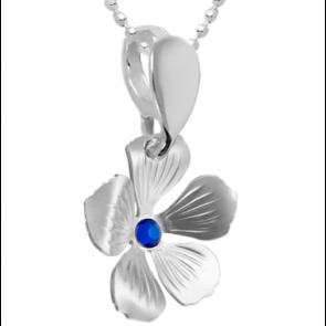 Pandantiv Floare - Cristal Swarovski Capri Blue