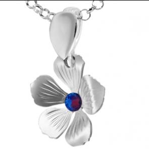 Pandantiv Floare - Cristal Swarovski Meridian Blue