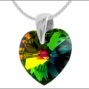 Pandantiv Vitrail Medium - Inimioara Cristal Swarovski